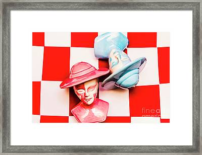 Fallen King And Queen On Chess Board Framed Print by Jorgo Photography - Wall Art Gallery