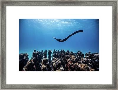 Falling Angel Framed Print by One ocean One breath