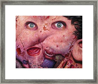 Falling Apart Framed Print by James W Johnson