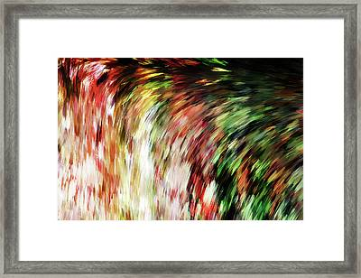 Falling Down Abstract Wall Art Framed Print by Georgiana Romanovna