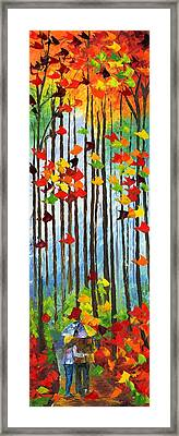 Falling In Love Framed Print by Ash Hussein
