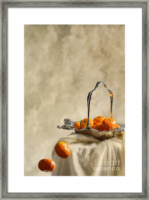 Falling Oranges Framed Print by Amanda And Christopher Elwell