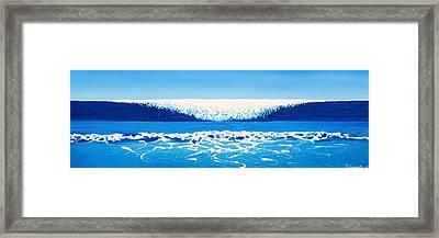 Falling Sea Framed Print by Jaison Cianelli