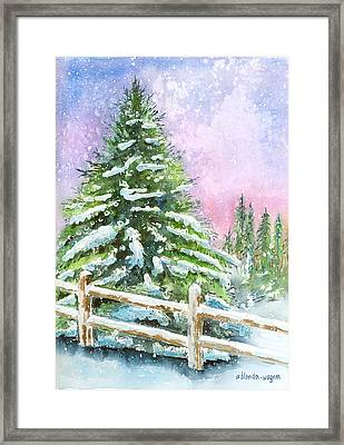 Falling Snowflakes Framed Print by Arline Wagner