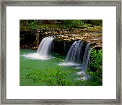 Falling Water Falls Framed Print by Marty Koch