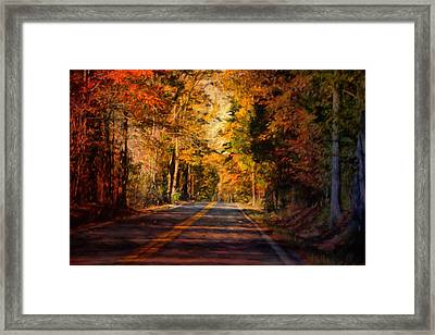 Falls Guiding Light Framed Print by Jai Johnson