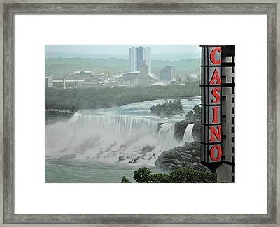 Falls View Framed Print by Kenneth M  Kirsch