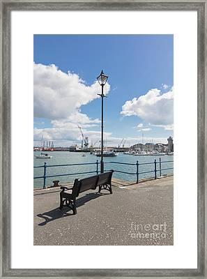 Falmouth - A Nice Place To Sit Framed Print by Terri Waters