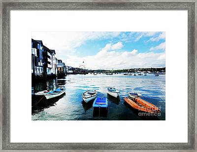 Falmouth To Flushing Framed Print by Terri Waters