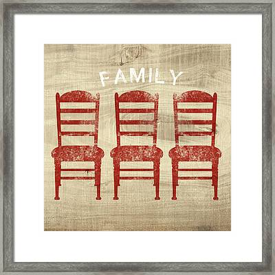 Family- Art By Linda Woods Framed Print by Linda Woods