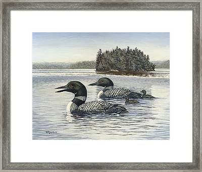 Family Outing Framed Print by Richard De Wolfe