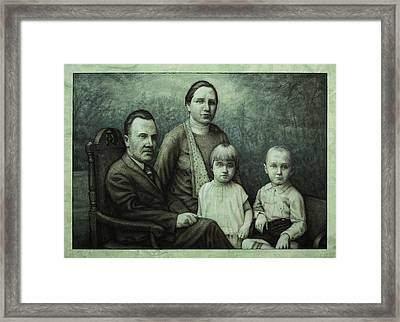 Family Portrait Framed Print by James W Johnson