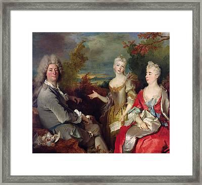 Family Portrait Framed Print by Nicolas de Largilliere