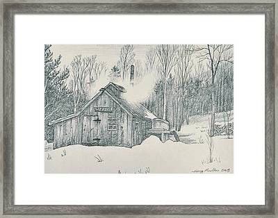 Family Sap House Framed Print by Harry Moulton