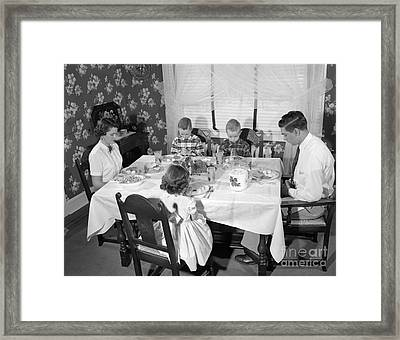 Family Saying Grace, C.1950s Framed Print by H. Armstrong Roberts/ClassicStock