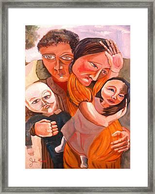Family Struggle Framed Print by John Keaton