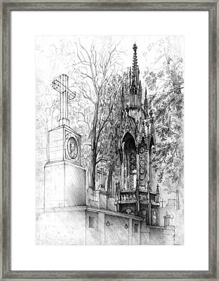 Family Tomb Framed Print by Krystian  Wozniak