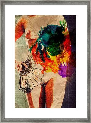 Fan Framed Print by Naman Imagery