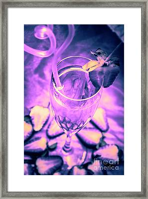 Fancy Champagne With Sliced Strawberries Framed Print by Jorgo Photography - Wall Art Gallery