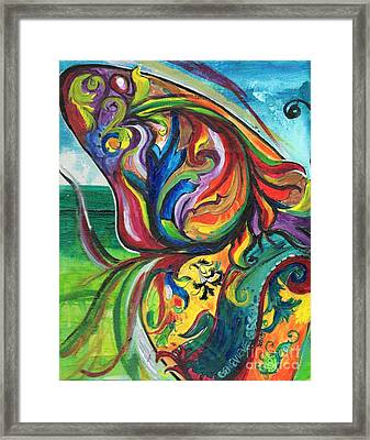 Fancy Upon A Butterfly Wing Framed Print by Genevieve Esson