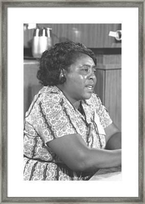 Fannie Lou Hamer 1917-1977 Framed Print by Everett