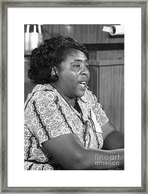 Fannie Lou Hamer (1917-1977) Framed Print by Granger