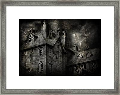 Fantasy - Haunted - It Was A Dark And Stormy Night Framed Print by Mike Savad