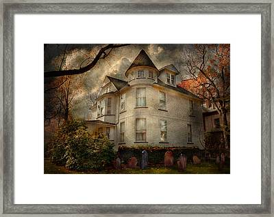 Fantasy - Haunted - The Caretakers House Framed Print by Mike Savad