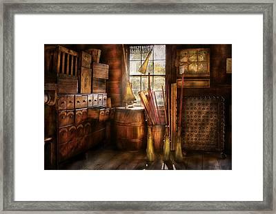 Fantasy - The Broom Maker Framed Print by Mike Savad