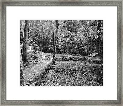 Fantasy Forest In Black And White Framed Print by DigiArt Diaries by Vicky B Fuller