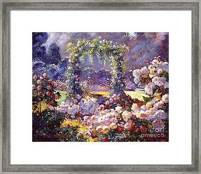 Fantasy Garden Delights Framed Print by David Lloyd Glover