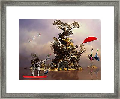 Fantasy Island Resorts Collection Framed Print by Marvin Blaine