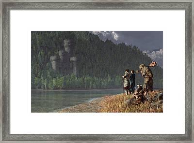 Fantasy Quest Framed Print by Daniel Eskridge