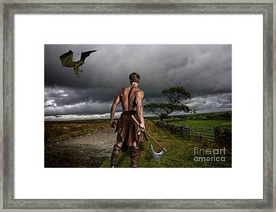 Fantasy Warrior Framed Print by Steev Stamford