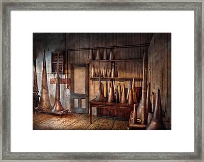 Fantasy - Wizard Hat Prototype Lab Framed Print by Mike Savad