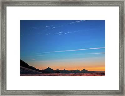 Far Mountains Framed Print by Konstantin Dikovsky