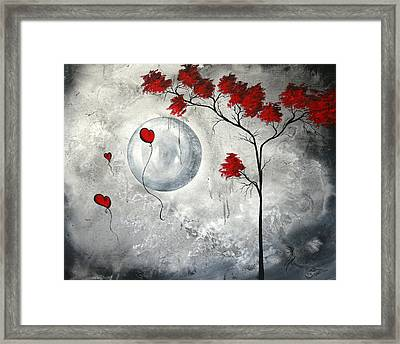 Far Side Of The Moon By Madart Framed Print by Megan Duncanson