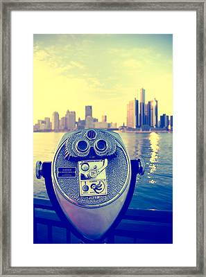 Faraway Detroit Framed Print by Andreas Freund