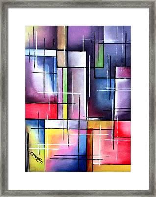 Farbenspiel Framed Print by Eva Borowski