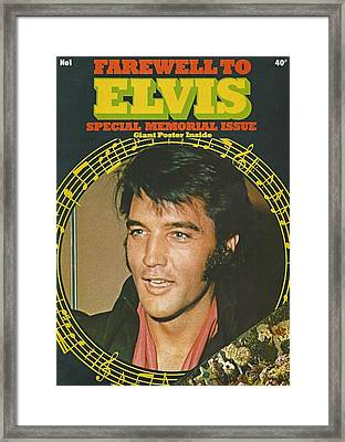 Farewell To Elvis Framed Print by Pd