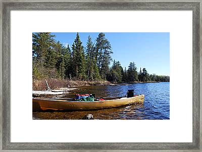 Farewell To Hope Lake Framed Print by Larry Ricker