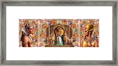 Farley Egyptian Triptych Framed Print by Andrew Farley