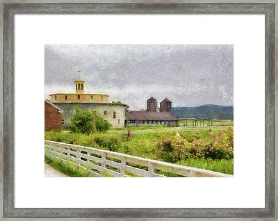 Farm - Barn - Farming Is Hard Work Framed Print by Mike Savad