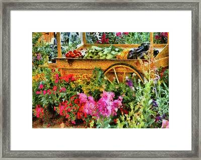 Farm - Food - At The Farmers Market Framed Print by Mike Savad