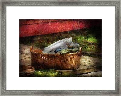 Farm - Laundry  Framed Print by Mike Savad