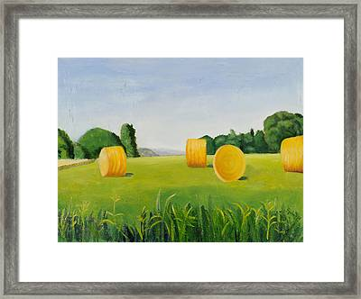 Farm Bales Framed Print by Gloria Cigolini-DePietro