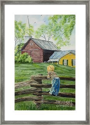 Farm Boy Framed Print by Charlotte Blanchard