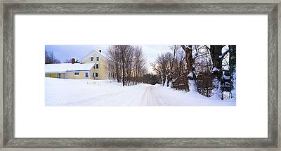 Farm Covered In Snow, Darling Hill Framed Print by Panoramic Images