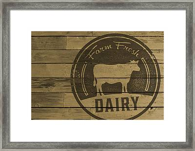 Farm Fresh Dairy Framed Print by David Holm