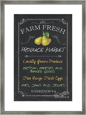 Farm Fresh Produce Framed Print by Debbie DeWitt